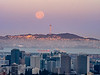 Full Moon over SF and Downtown Oakland II