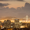 Downtown Oakland and Bay Bridge After Sunset