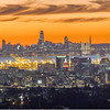 Downtown Oakland and San Francisco Just After Sunset