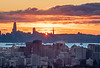 Sun Setting over SF and Oakland