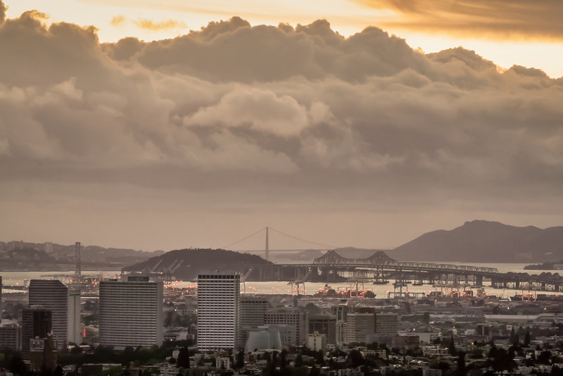 Oakland Skyline and SF Bay III, Oakland CA