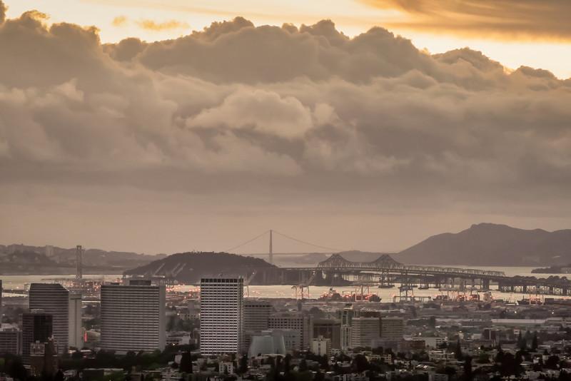 Oakland Skyline and SF Bay III, Oakland CA