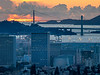 Downtown Oakland, Bridges, and Clouds, Post-Sunset