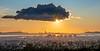Sun over SF Bay Area Descending toward the Horizon