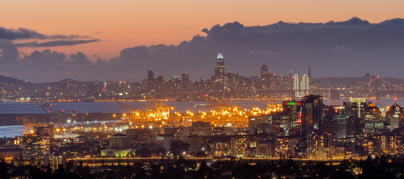 Panorama View of Oakland and San Francisco