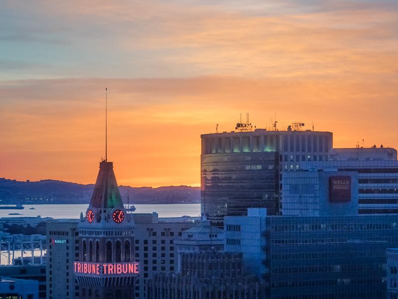 Oakland Tribune Building at Sunset #1