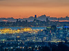 Downtown Oakland and SF after Sunset