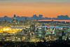 Lights of Oakland and SF After Sunset