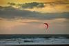 Kite Surfer on Ocean Beach, San Francisco CA
