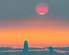 Smoky Sky, Big Sun, and Salesforce Tower