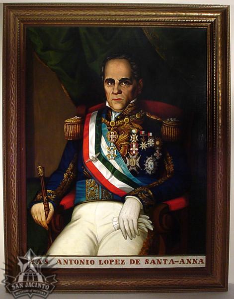 S.A.S. Antonio Lopez de Santa-Anna.  Portrait of Santa Anna, seated, in full military dress.