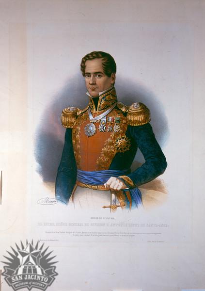 El Eccmo. Señor General de Divion D. Antonio Lopez de Santa-Anna, lithograph by Maurin.