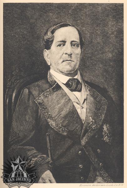 Antonio López de Santa Anna, from Texas and the Mexican War, by Nathaniel W. Stephenson, 1921.