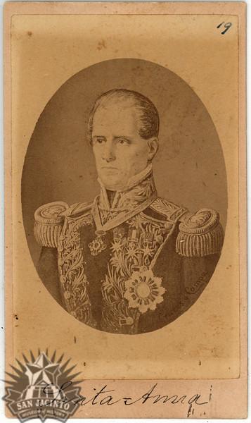 Gral. D. Antonio Lopez de Santa Anna, from a series of cartes de visite of Mexican leaders by Cruces y Campo,  ca. 1874.