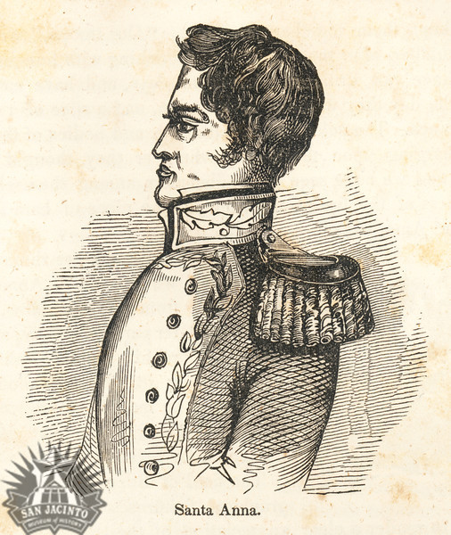 Santa Anna, from Pictorial History of Mexico and the Mexican War by John Frost, 1849.