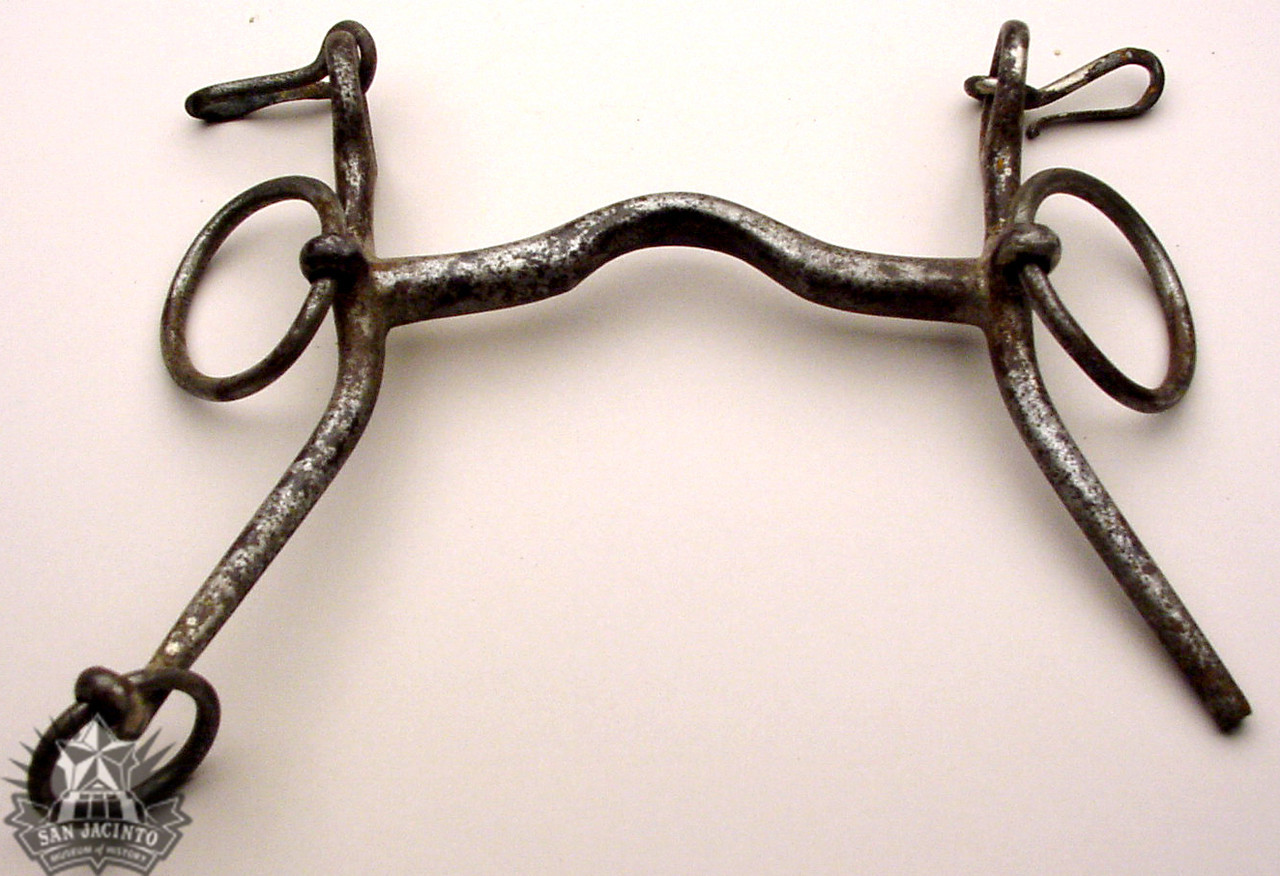 Iron horse's bit that belonged to Antonio López de Santa Anna. It was auctioned to Sidney Sherman in the sale of captured goods following the Battle of San Jacinto.