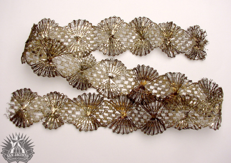 Silver lace trim, from the uniform of General Martín Perfecto de Cos of the Mexican Army.