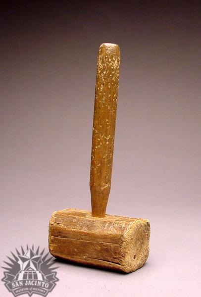 Handmade wooden mallet that belonged to Robert Benedict Russell.