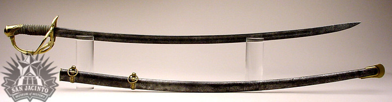 Cavalry saber and scabbard, made in France by Klingenthal, and owned by Sidney Sherman.