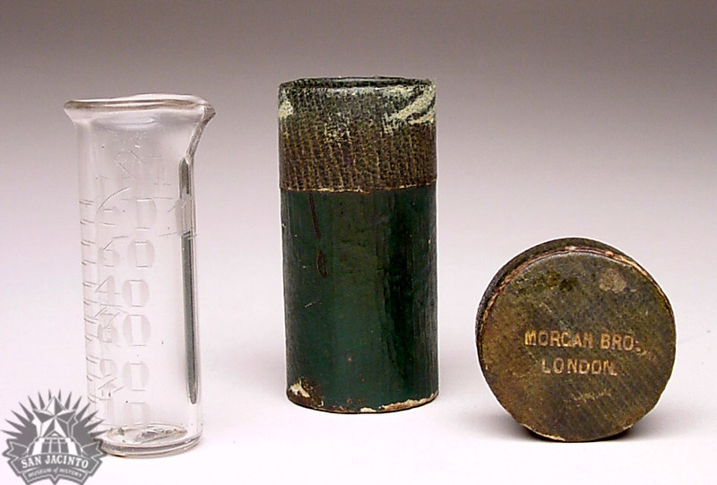 Glass graduate with case, owned by Nicholas D. Labadie.