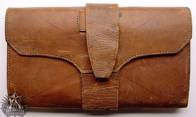 Leather wallet  owned by Nicholas Descomps Labadie.