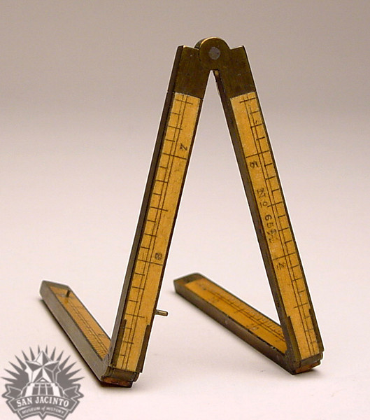 Folding ruler owned by Nicholas Descomps Labadie.