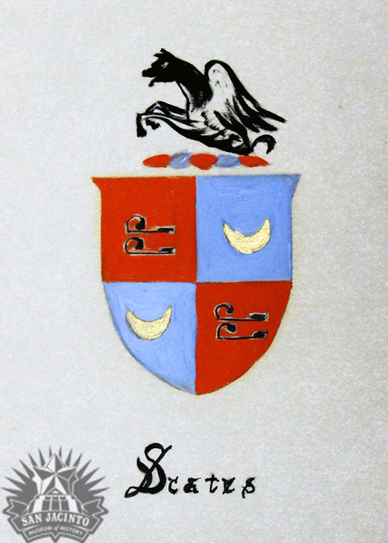 Coat of Arms of the Scates family.