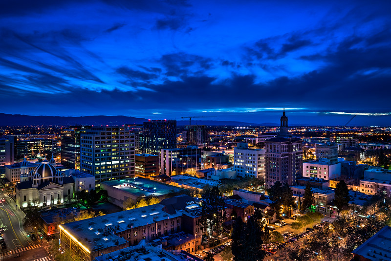 Blue Sunset over San Jose, 14 March 2015