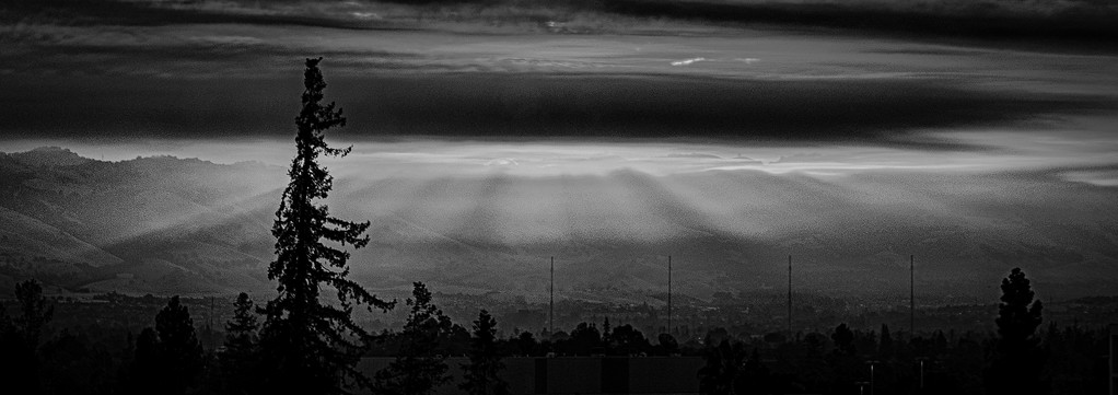 First Rays Over San Jose