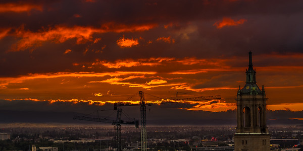 Fiery Sundown at San Jose