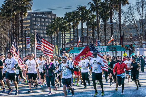 Start of the 2015 408k Race to the Row in Downtown San Jose