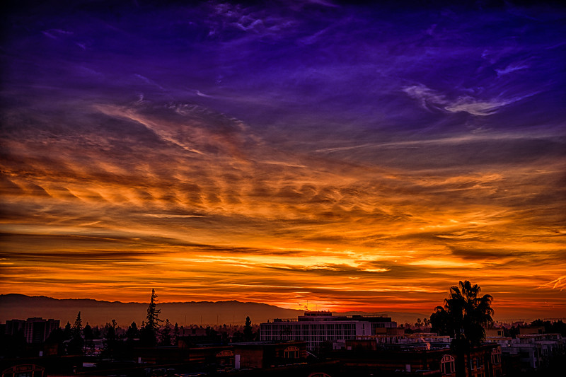 San Jose Dawn Sky, 5 January 2015