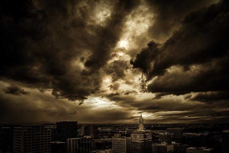Drama Sky Over Downtown San Jose