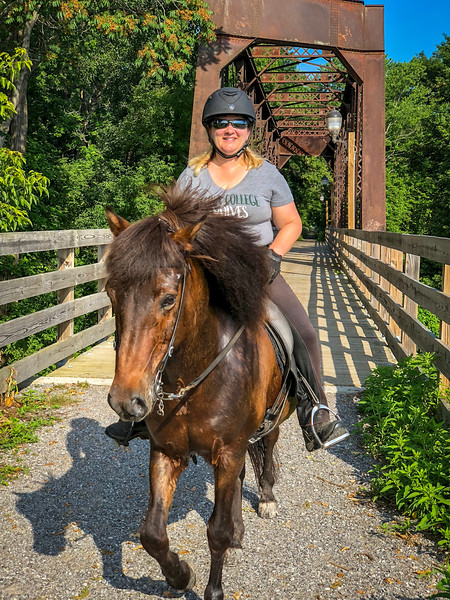 Trail riding with Andrea - July, 2018