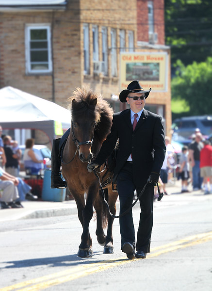With Steve, as the ceremonial riderless horse in the Gorham Memoral Day Parade - May 30, 2016