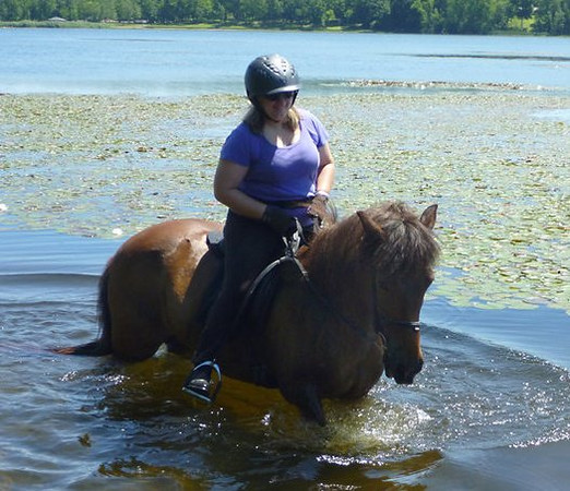 With Andrea in the 100 Acre Pond, Summer 2010