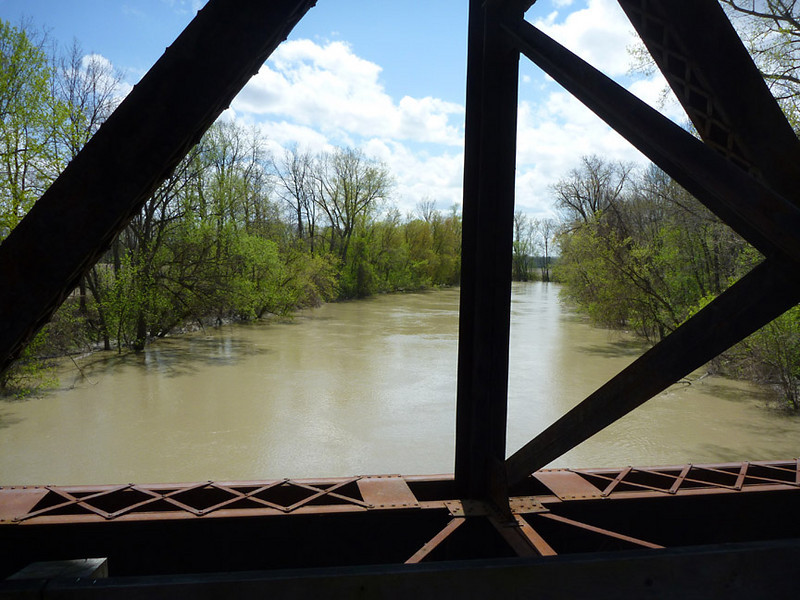 View from the bridge over the Genesee River <br /> Lehigh Valley Linear Trail<br /> May 8, 2011