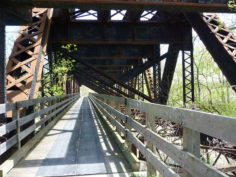 Bridge over the Genesee River <br /> Lehigh Valley Linear Trail<br /> May 8, 2011