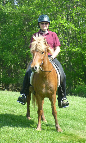 Steve riding Sailor<br /> Mendon Ponds Park<br /> May 2011