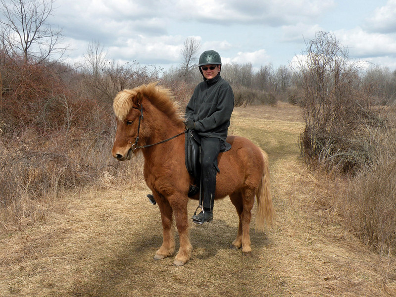 Steve riding Sailor  Mendon Ponds Park April 2011  (<i>photo:  Debbie Russell</i>)