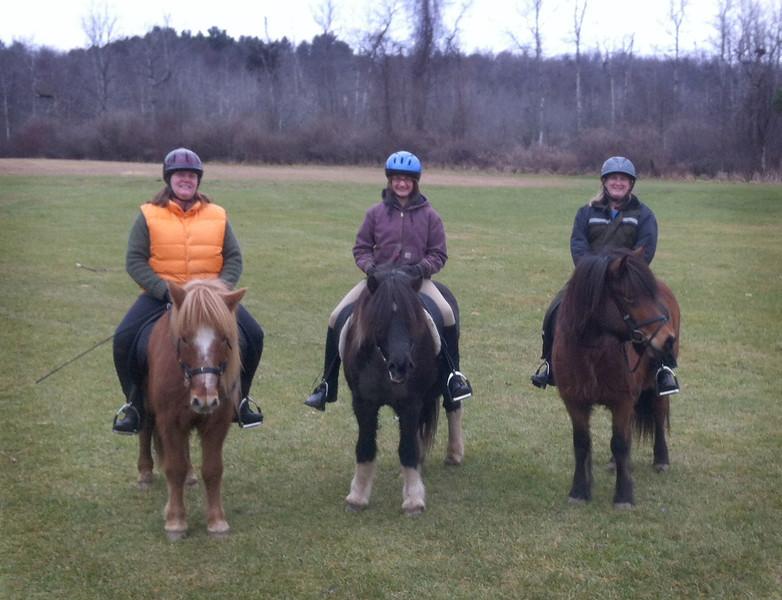 Chris and Kraftur, Kestrel and Flygill, Andrea and Tia Maria Mendon Ponds Park - December, 2012 <i>photo:  Steven Barber</i>