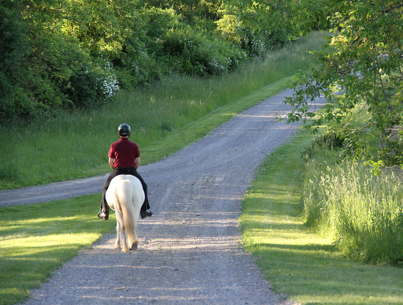 Steve and Drifa head out from Sand Meadow Farm<br /> June 4, 2013