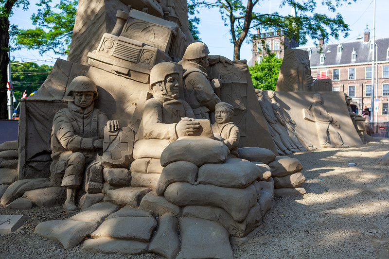 Tribute to the Veterans – Sand Sculpture