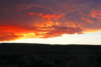 First Sunset on Friday Night of the Sand Wash Basin 2014 Campout