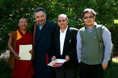 IMG_7209 Geshe Dadul Namgyal, Pema Dorjee, Tsepak Rigzin