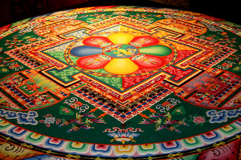 2011 - The mandala is complete, in this case, after six full days of collective effort.