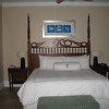 Sandals Emerald Bay- Bedroom of the Great Exuma Honeymoon One Bedroom suite. The bed was very comfy!<br /> <br /> For more information on Sandals Emerald Bay or any of the other Sandals resorts, please contact us at Romance@SandnSunVacations.com