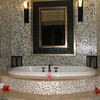 Our Beachfront Rondaval Suite - teh jetted soaking tub for two!