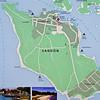 Map over the island Sandön