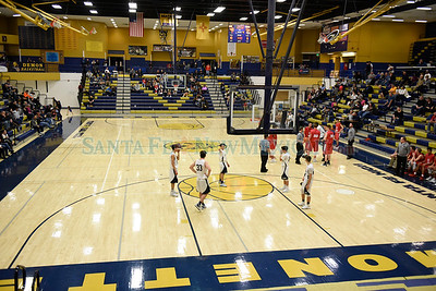 Sandia at SF High boy's basketball game played Friday, February 3, 2017 at Toby Roybal Memorial Gym, Santa Fe High. Clyde Mueller/The New Mexican